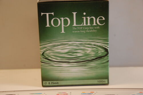 Top Line Carp Line with season-long durability 0.25 mm 7 Lbs 3.17 Kg 1000 M tran