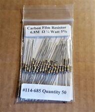 New Stock  USA Seller 50pcs 3.9M Ohm 1//4 Watt   5/% Carbon Film Resistors