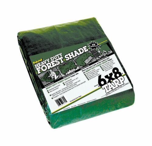 W x 6 ft L Heavy Duty  Polyethylene  Tarp  Green Dewitt  Polytuf  8 ft