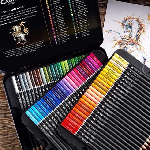 Castle Art Supplies 72 Colored Pencils Set for Coloring ...