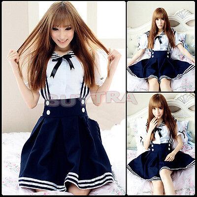 HOT Japan School Uniform Cosplay Costume Anime Girl Maid Sailor Lolita DressCAJB