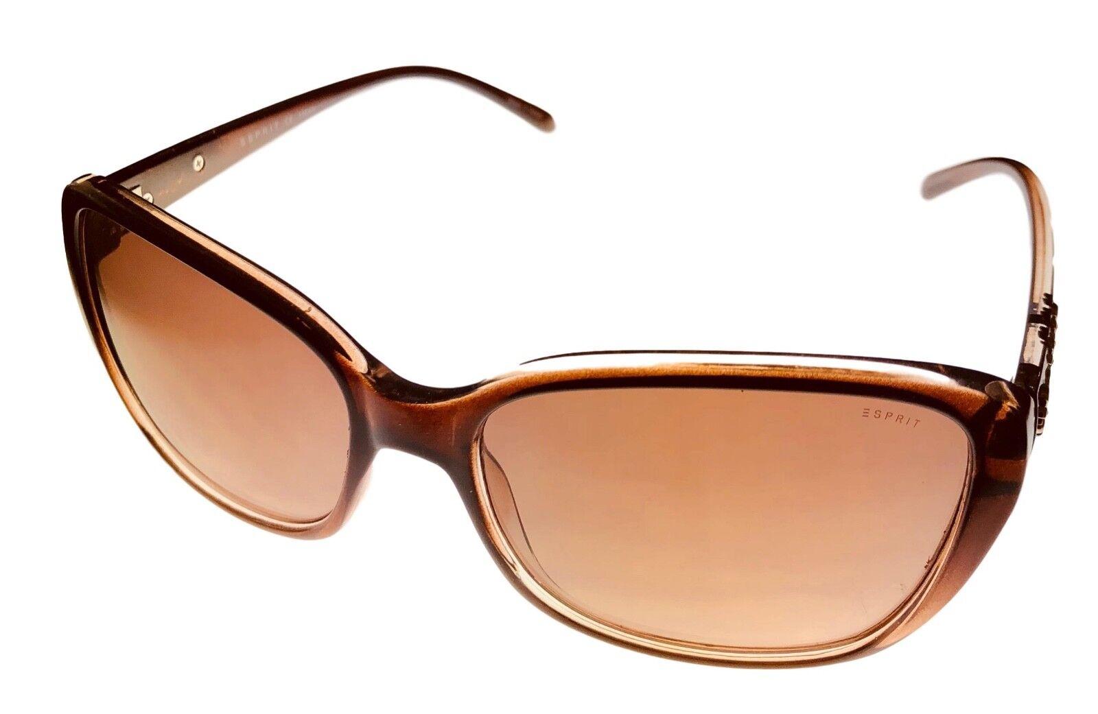 Esprit Sunglass Womens Crystal Brown Plastic Rectangle Sunglass ET19450. 535