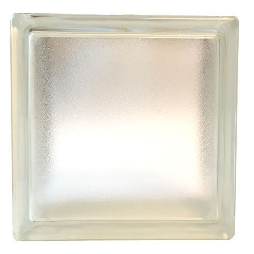 6 Stück Glasbaustein Glasstein 19x19x8cm satiniert-matt Glasbausteine