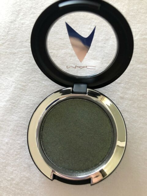 Genealogia diapositiva Opuscolo  MAC~Star Trek Coll. Eyeshadow~BIRD OF PREY~Olive Green Sparkle~LE ...