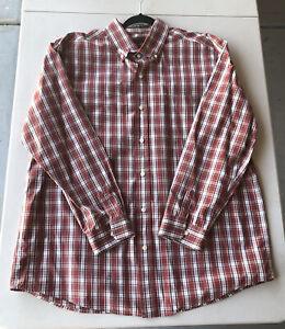 Men-s-Eddie-Bauer-Legend-Wash-Long-Sleeve-Plaid-Shirt-Pre-Owned-Size-XL