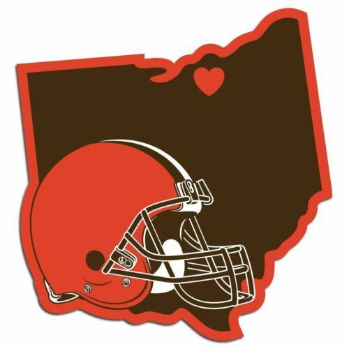 Cleveland Browns vinyl sticker for skateboard luggage laptop tumblers car b