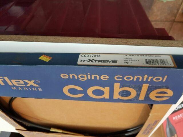 SeaStar CCX17915 Xtreme Mercury MerCruiser 600A Control Cable Teleflex 15 ft.