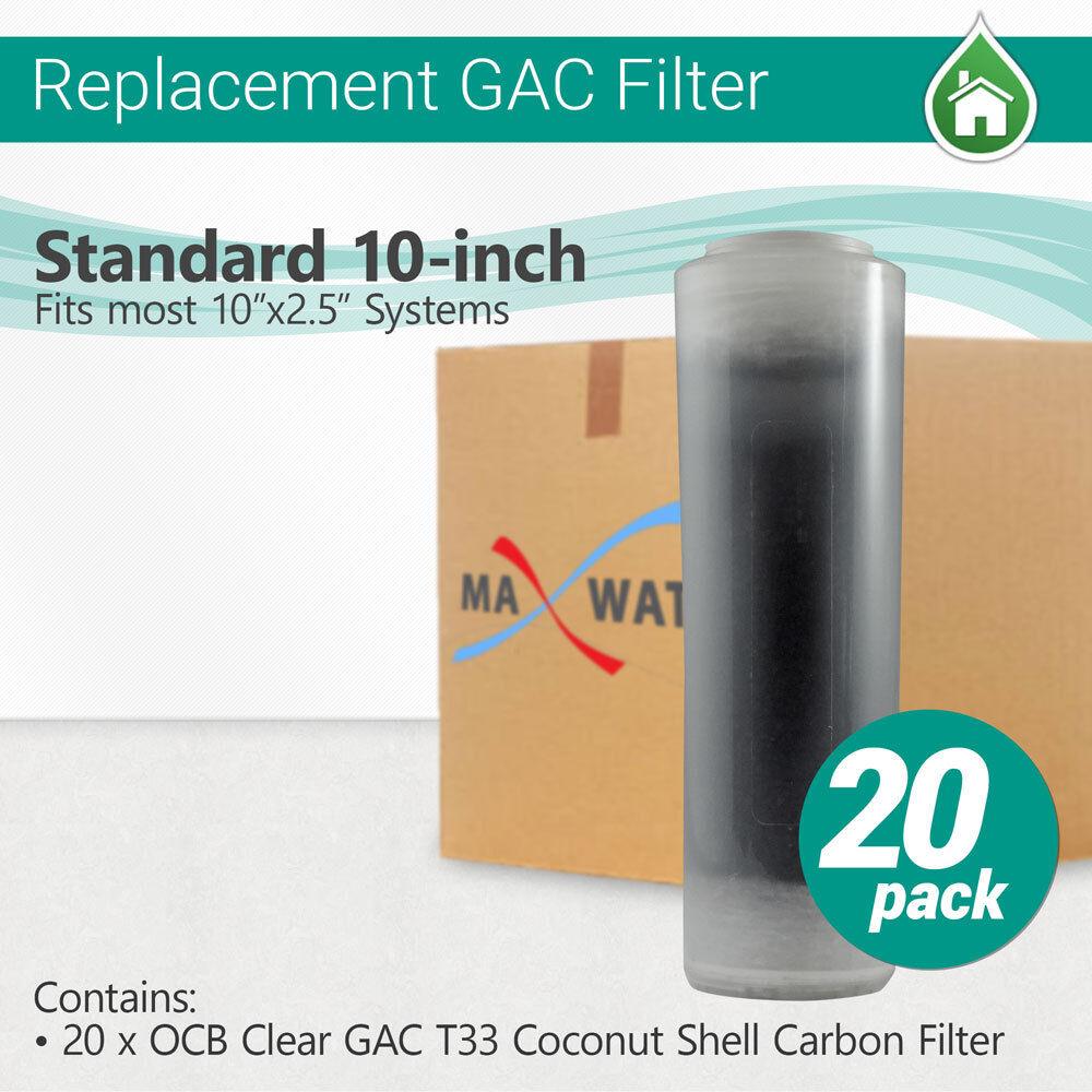 20 pcs OCB Clair Filtre-Cag T33 Noix De Coco Filtre à charbon taille 10 x2.5