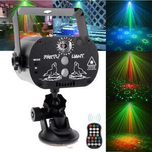60 Muster Lichteffekt RGB LED Laser Projektor Disco Party Bühnenbeleuchtung DJ