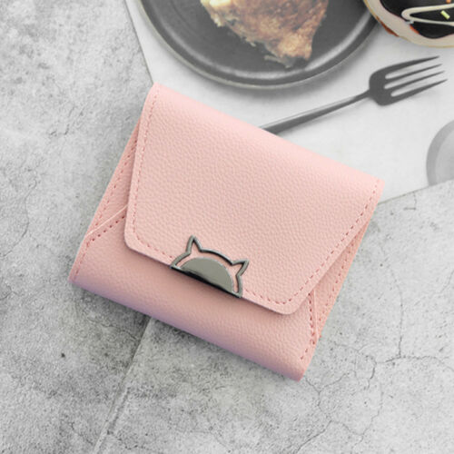 Coin Short Wallet Money ID Card Holder New Women Folding Small Purse Leather