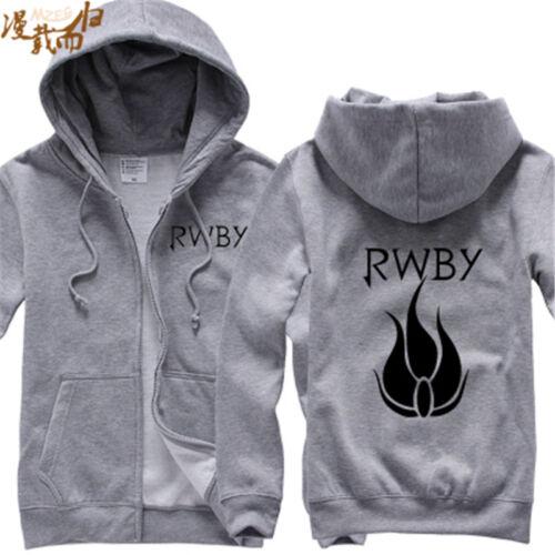 RWBY zipper Hooded fashion Cosplay Hoodie Sweatershite Jacket Costume coat top