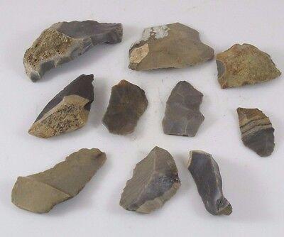 Indian Artifacts Ten Stone Tools Jz 0710 Ebay