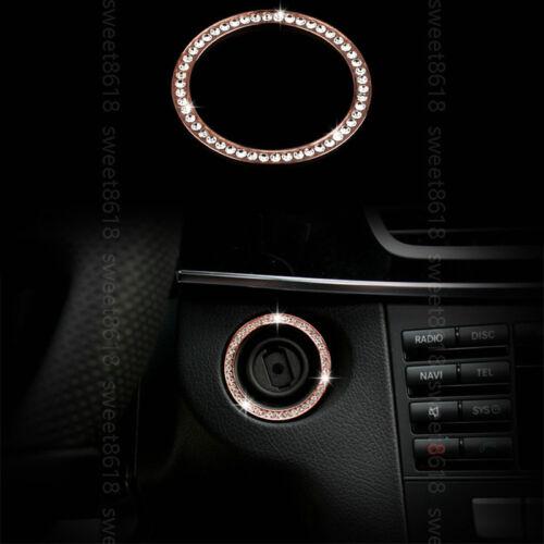 Rose Gold Key Engine Start Ring Trim For Benz A B C E CLA GLA ML GL GLK Class