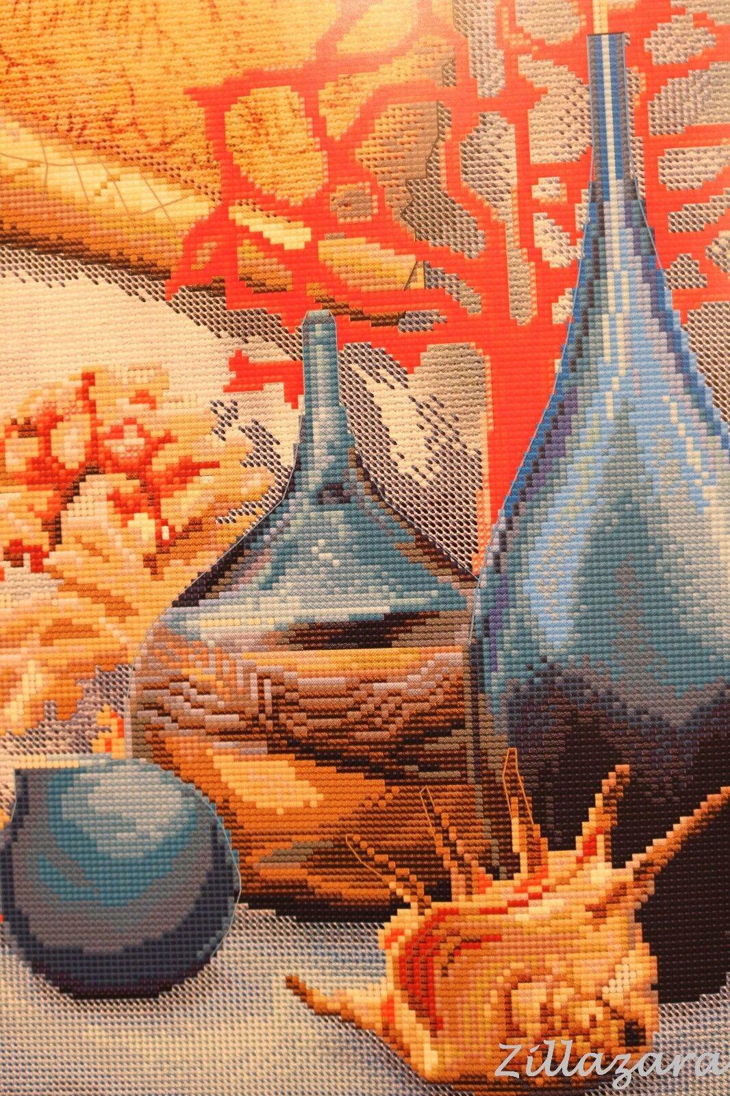 Stillleben Kreuzstichpackung Stickbild Kreuzstich Bild sticken Garn+Perlen 392