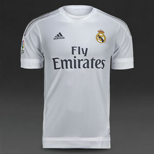 REAL MADRID HOME 2015/16 S&LONG/S (M,L,XL,2XL,3XL) ADIDAS FOOTBALL SHIRT JERSEY