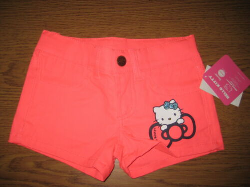 Size 4 HELLO KITTY Neon Pink Shorts New w//Tags