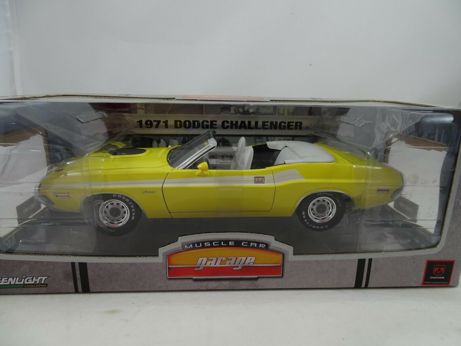 1 18 verdelight Garaje y-1971 Dodge Challenger giallo - Rareza