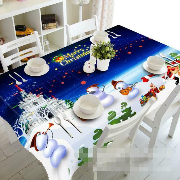3D Christma 51 Tablecloth Table Cover Cloth Birthday Party Event AJ WALLPAPER AU