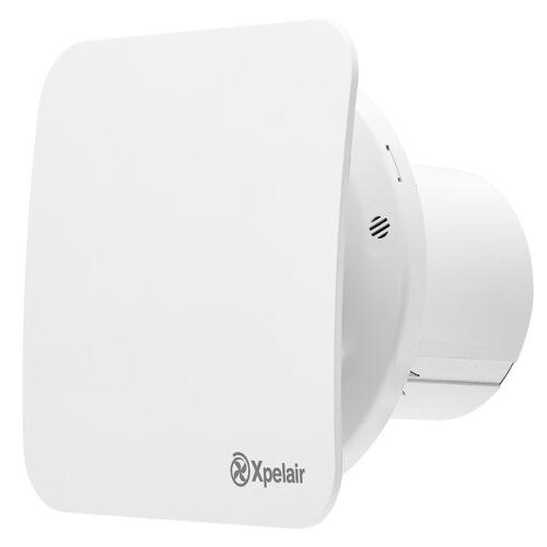 "Xpelair 4/"" 100mm simplement ventilateur silencieux square minuterie pullcord humidostat salle de bain"