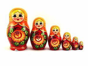 Matryoshka di russe Originale legno Bambola Babushka Bambole matrioska AR5q3j4L