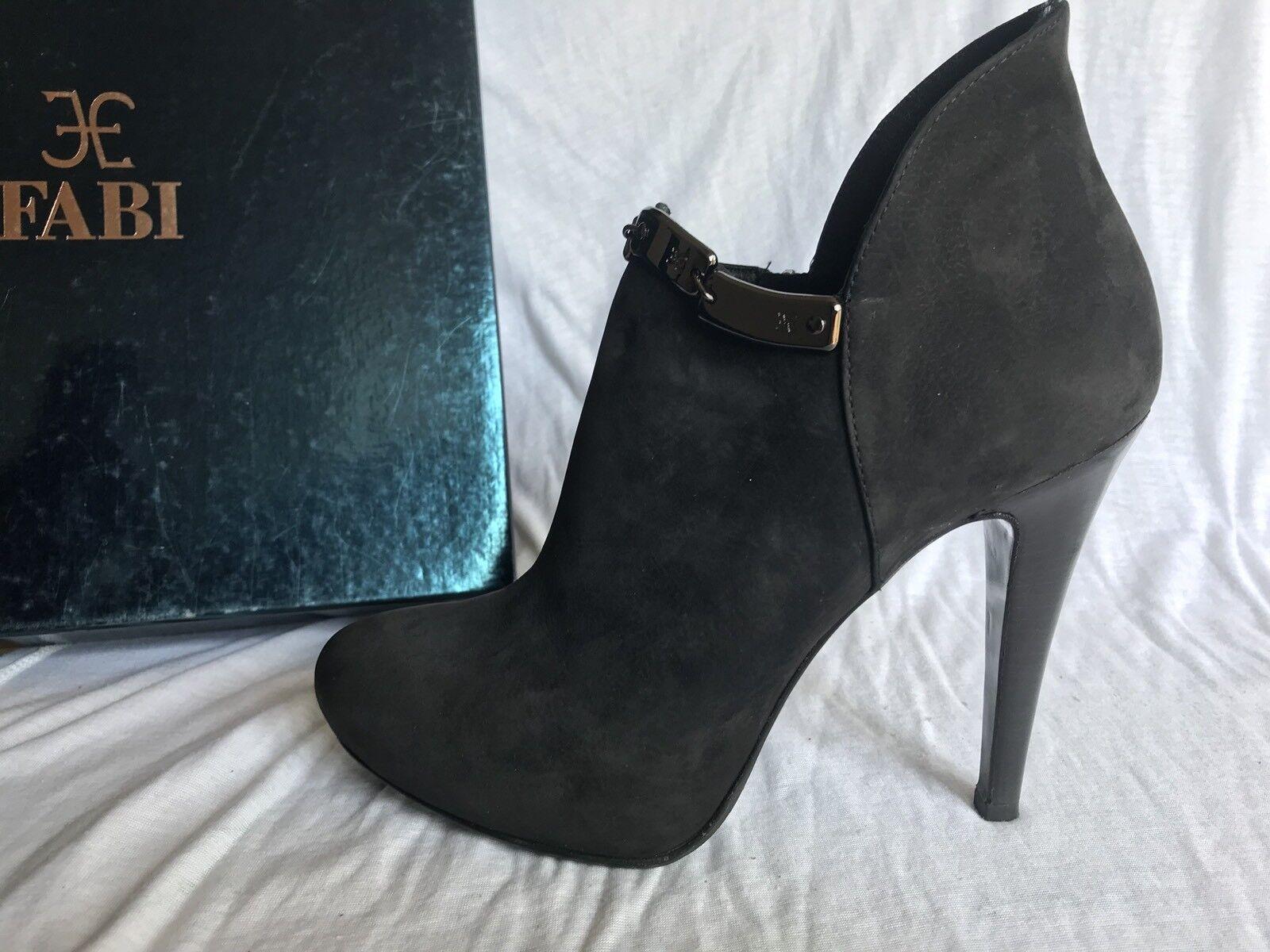 FABI scarpe Tronchetto Con Cerniera Tacco In Alto Nero 37 Made In Tacco Italy d9ea15