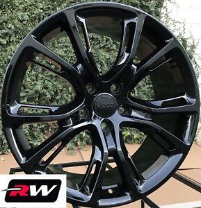 20 inch rw wheels for jeep grand cherokee 20x9 gloss black srt8 rims lug nuts ebay. Black Bedroom Furniture Sets. Home Design Ideas