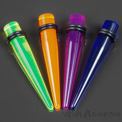 1,6-10mm Dehnungsstab Dehnstab Neon Expander Acryl Plug Tunnel transparent EX14