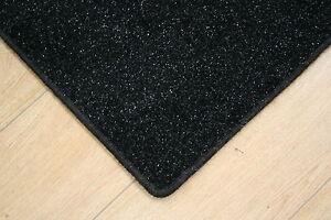 Image Is Loading Glitter Sparkle Black Rug 6 039 Ft X