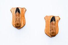 Taxidermy Deer Hoof Foot Feet Gun Rack on Beautiful Oak Plaques Gunrack