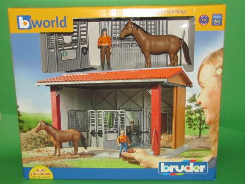 Bruder bworld 62520 Reitstall mit Figur und Pferd und Zubehör Blitzversand