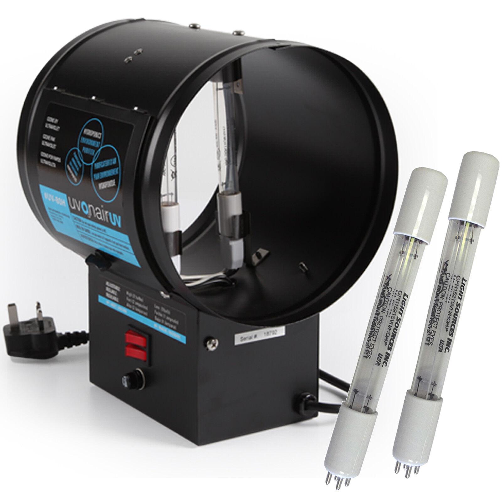 Uvonair UV-80H in Linea 20.3cm Tubo Ozone Generatore Idroponico Odori