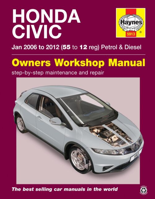 haynes workshop repair manual for honda civic jan 06 12 55 to 12 rh ebay co uk Parts Manual Repair Manuals