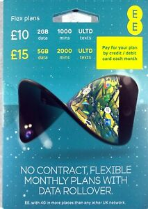 EE Flex Plan SIM GOLD VIP EASY MOBILE PHONE NUMBER SIM ...