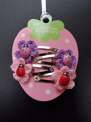 Girls/baby Hair Clips, Snap Clips, Slides Mini/small Hair Clips Flower Ladybirds Aspetto Estetico