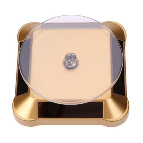 Solar Drehteller 360° Präsentierteller Schmuck Drehbühne Uhrenständer Display