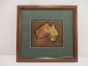 Cadre Carte Australie Marqueterie Bois Marquetry Matters Maps Australia