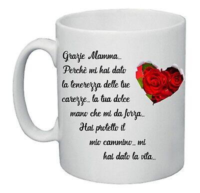 tazza mug 8x10 scritta poesia per la mamma  festa idea regalo compleanno