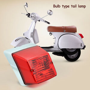 REAR-LAMP-TAIL-LIGHT-CHROME-RETRO-VESPA-LML-STAR-STELLA-PX-125-150-200-SCOOTER