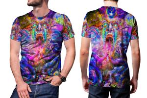 DMT Magic Mushroom Ayahuasca Trippy Psychedelic Hallucinogen Model 5 T-Shirt Tee