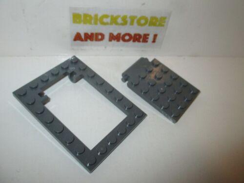 Lego Plate Modified 6X8 Trap Door 30041 /& 30042 Dark Bluish Gray//Grau//Gris