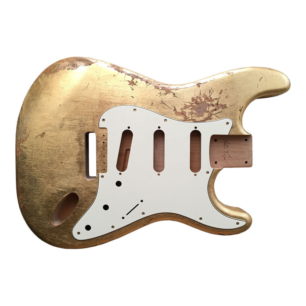 BODY Mercury relic aged METALLIC LEAF guitar Stratocaster type