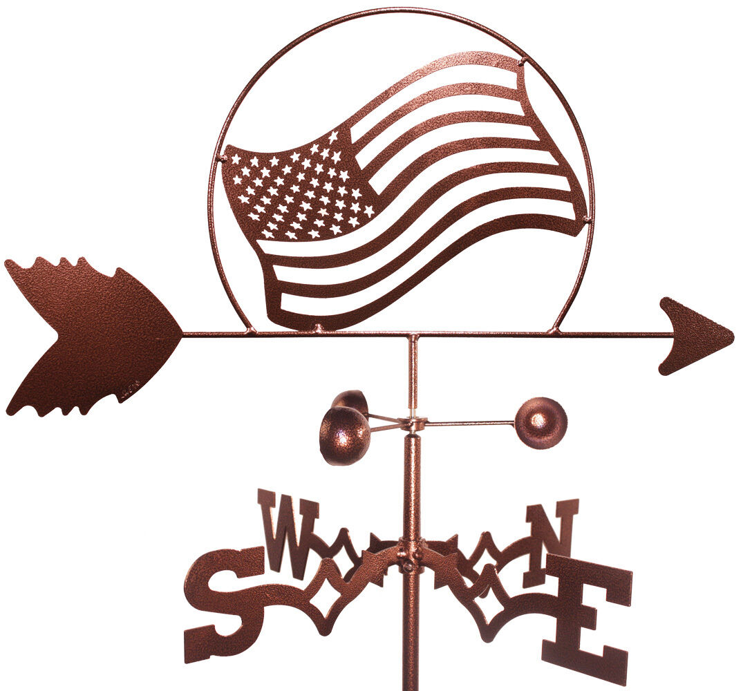 American Flag Weathervane (Roof Mounting Included)