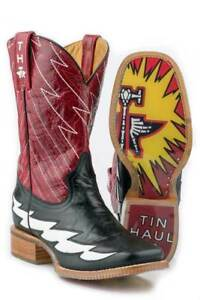Tin-Haul-Boots-Tin-Haul-Mens-Western-The-Flash-Black-Leather-Cowboy-Boots