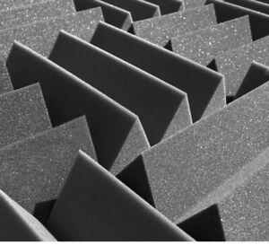 "Acoustic Foam 12 pack XTRA THICK!! Wedge Recording Studio Foam Tiles 12x12x4"""