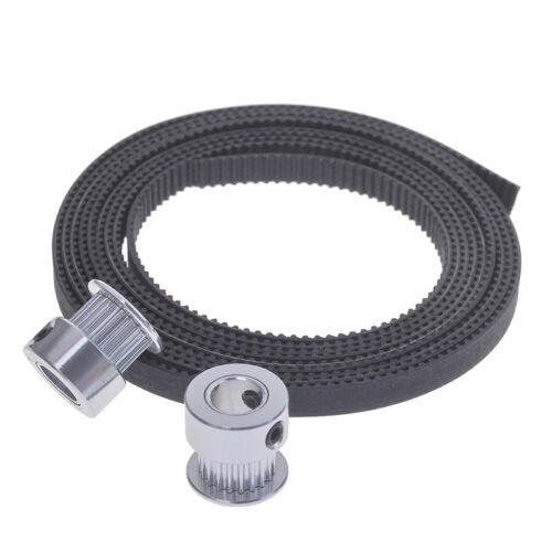 2m belt 6mm width kit for 3d printer reprap 2Pcs gt2 timing pulley 20t 5//8mm