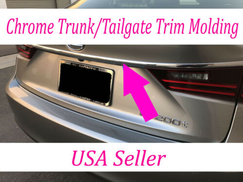 For Volvo 2003-2018 Chrome Silver Rear Trunk Trim Molding Kit Accent
