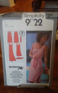 Oop-Simplicity-Super-Jiffy-9522-misses-summer-knit-dress-scoop-neck-size-12-NEW
