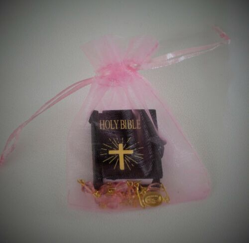 """DOLL ROSARY CLEAR  MINI BIBLE FOR 18/""""  /& 15 /"""" AMERICAN GIRL DOLLS ACCESSORIES"""
