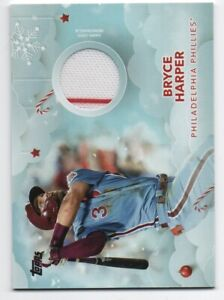 2020-Topps-Holiday-Bryce-Harper-Relic-w-Pinstripe-WHR-BH-FREE-SHIPPING