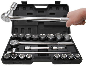 Socket-Set-Ratchet-Box-Drive-20-MM-3-4-034-SW-19-50-mm-20-Pcs
